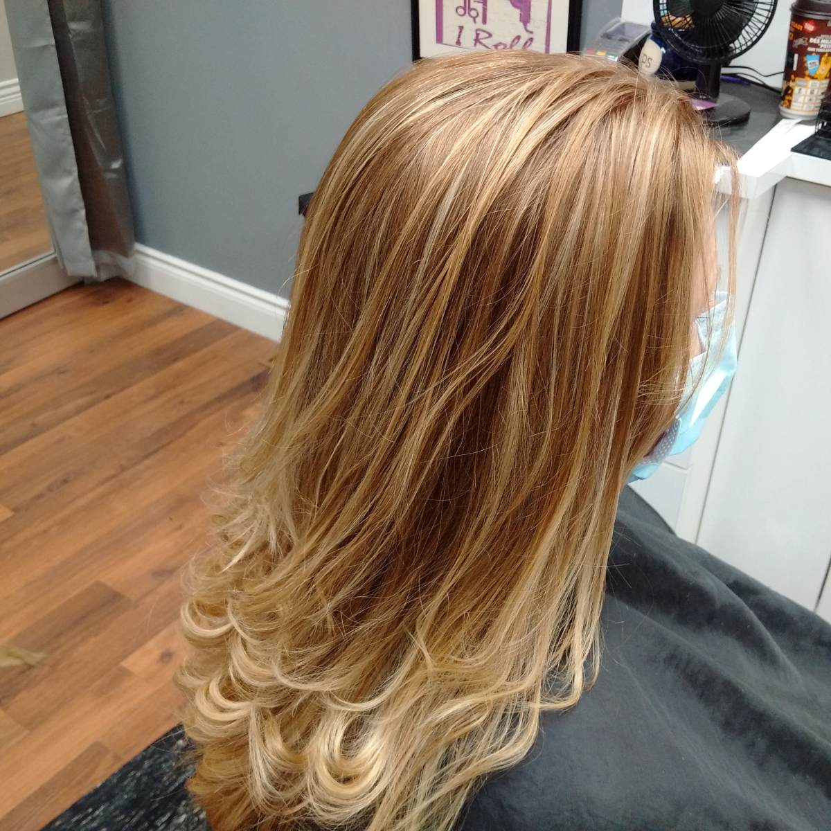 beautiful woman hair after colouring