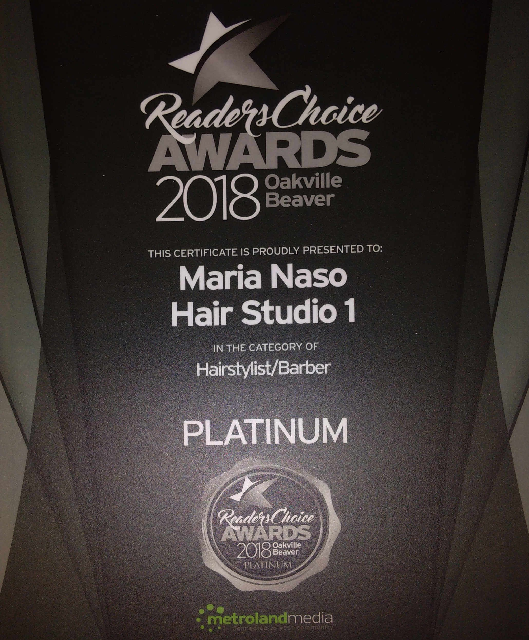 Reader's Choice Award - Platinum